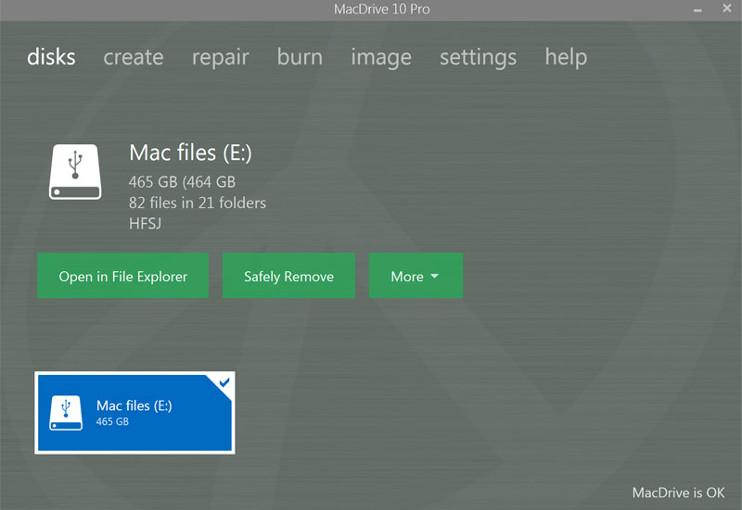 Lesen eines Mac-Laufwerks (HFS + und APFS) auf einem PC
