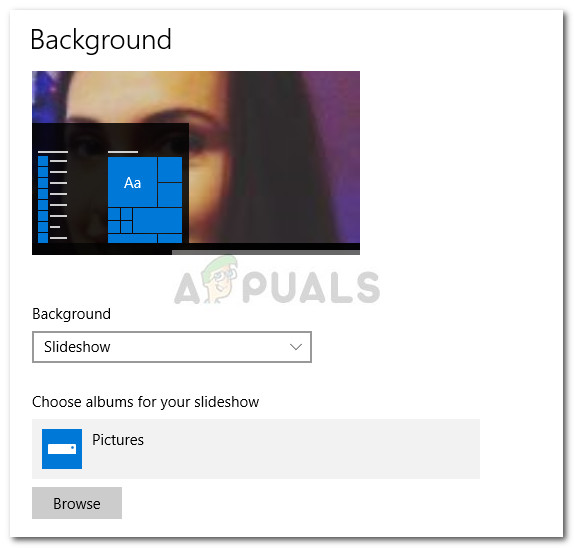Fix: Windows 10-Hintergrund-Diashow ohne Unterordner