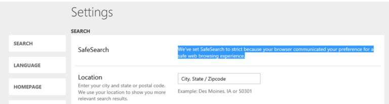 Fix: Die sichere Suche wird in Microsoft Edge und IE nicht deaktiviert