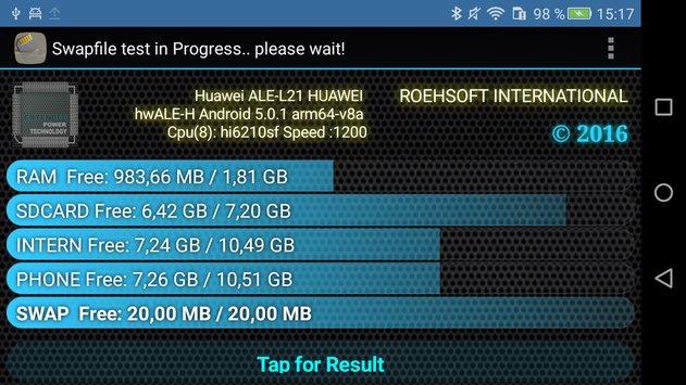 Verwendung der SD-Karte als zusätzlicher RAM in Android
