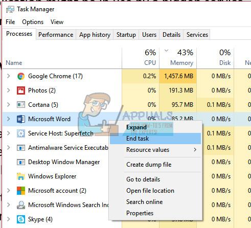 Fix: Datei ist in einem anderen Programm geöffnet