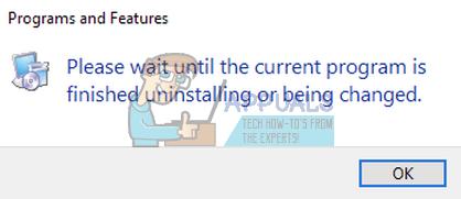 Fix: Bitte warten Sie, bis das aktuelle Programm deinstalliert oder geändert wurde