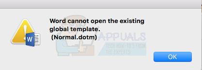 Fix: Word kann die vorhandene globale Vorlage 'Normal.dotm' nicht öffnen.