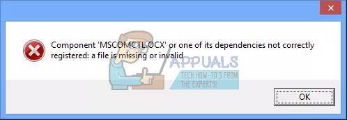 Fix: Komponente 'MSCOMCTL.OCX' oder eine ihrer Abhängigkeiten nicht korrekt registriert: Eine Datei fehlt oder ist ungültig