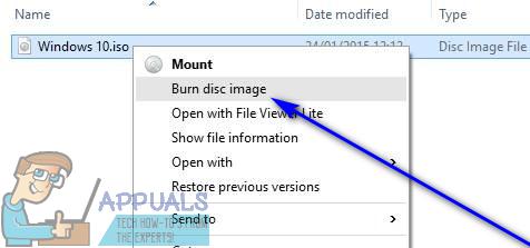 So brennen Sie eine Windows 10-ISO-Datei auf eine DVD