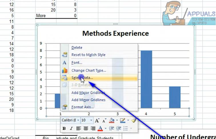 So ändern Sie die X-Achsenwerte in Excel