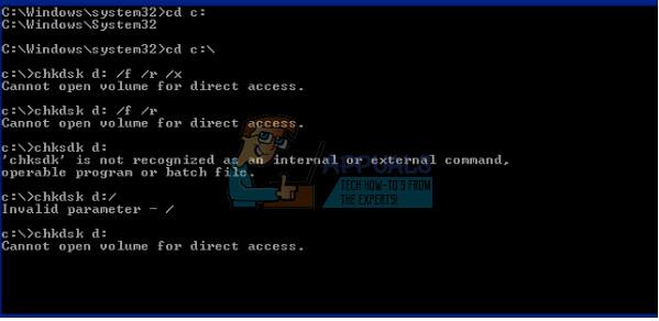 Fix: Volume für direkten Zugriff kann nicht geöffnet werden