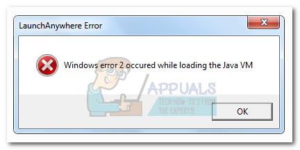 Fix: Windows-Fehler 2 trat beim Laden der Java-VM auf
