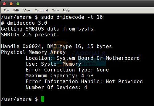 So überprüfen Sie RAM-Slots unter Linux