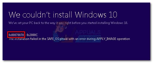 Fix: Windows 10 Update Fehler 0x80070070