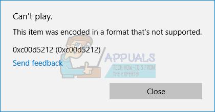 Fix: Windows-Fehler 0xc00d5212 im codierten Format