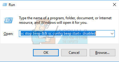 Deaktivieren des Signaltons bei Fehlern unter Windows 7, 8 und 10