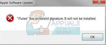 Fix: iTunes hat eine ungültige Signatur