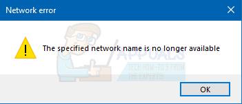 Fix: Der angegebene Netzwerkname ist nicht mehr verfügbar