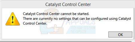 Fix: Catalyst Control Center kann nicht gestartet werden