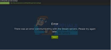 Fix: Bei der Kommunikation mit den Steam-Servern ist ein Fehler aufgetreten