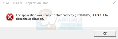 Fix: Windows-Anwendungsfehlercode 0x0000022
