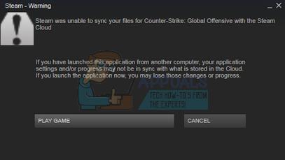 Fix: Steam konnte Ihre Dateien nicht synchronisieren