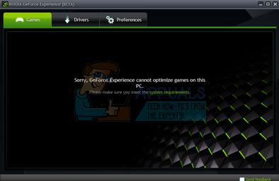 Fix: GeForce Experience Game kann nicht optimiert werden