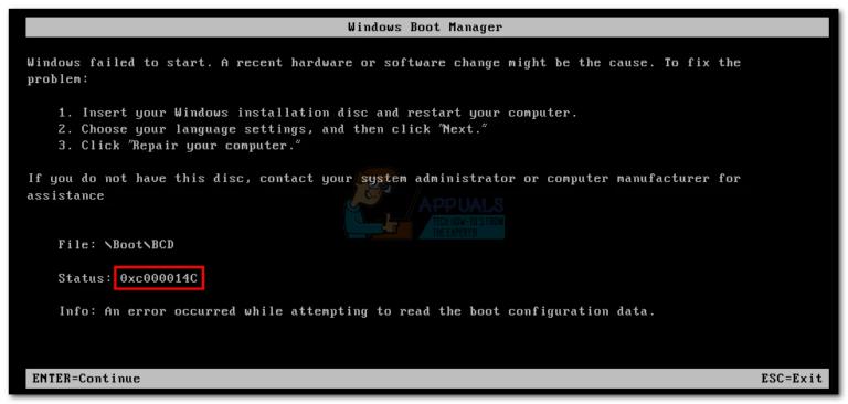 Fix: Fehler 0xc000014C unter Windows 7, 8 und 10