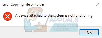 Fix: Ein an das System angeschlossenes Gerät funktioniert nicht