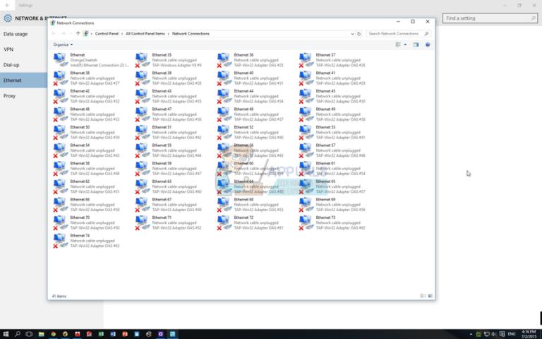 Fix: Mehrere TAP-Win32-Adapter-OAS- und TAP-Windows-Adapter-V9-Verbindungen
