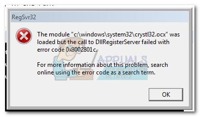 Fix: DllRegisterServer Failed Error 0x8002801c