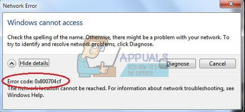 Fix: Netzwerkfehler 0x800704cf – Appuals.com
