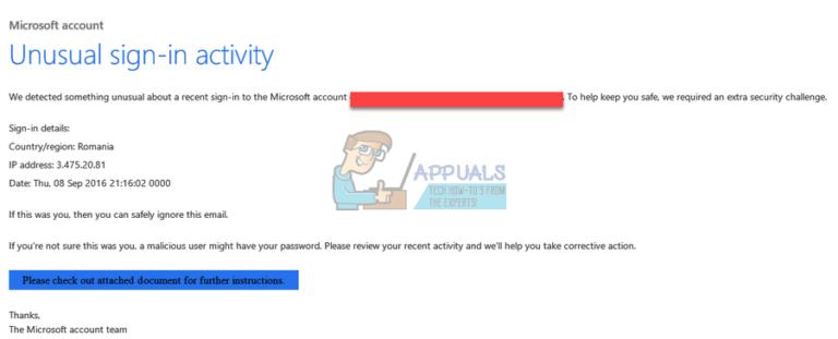 Fix: Ungewöhnliche Anmeldeaktivität für Microsoft-Konten