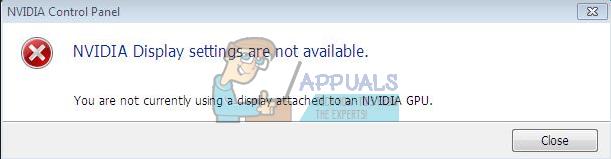 Fix: Sie verwenden derzeit kein Display, das an eine NVIDIA-GPU angeschlossen ist
