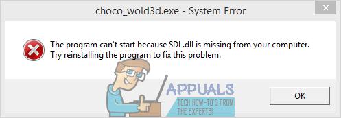 Fix: SDL.dll fehlt oder SDL.dll wurde nicht gefunden