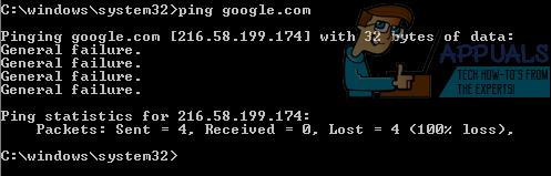 """Fix: """"General Failure"""" -Fehler beim Ausführen von Ping-Befehlen"""