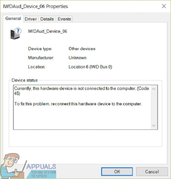 Fix: Derzeit ist dieses Hardwaregerät nicht mit dem Computer verbunden (Code 45).