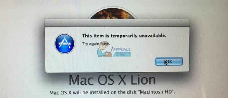 So beheben Sie dieses Problem ist nach der Neuinstallation von MacOS oder OS X vorübergehend nicht verfügbar