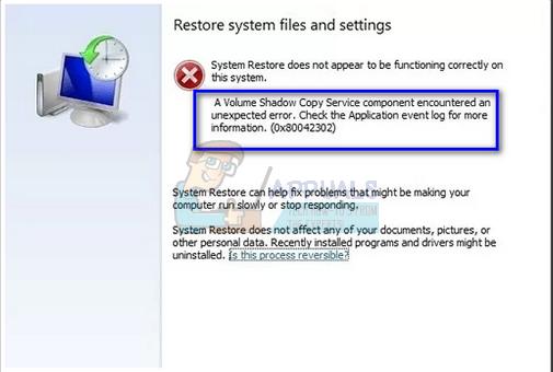 Fix: Fehler 0x80042302 beim Versuch, das Windows 10-Systemabbild wiederherzustellen