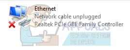 Fix: Netzwerkkabel nicht angeschlossen – Appuals.com