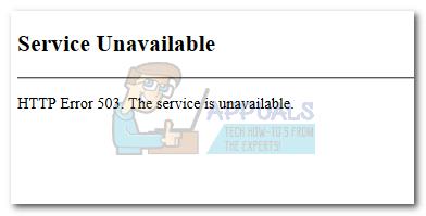 So beheben Sie den HTTP-Fehler 503 'Dienst nicht verfügbar'
