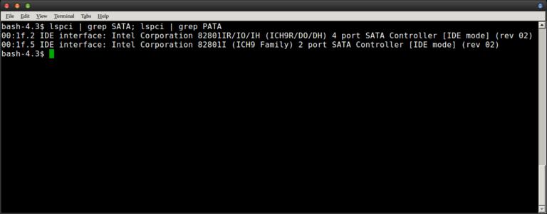 So erkennen Sie, ob Sie SATA oder PATA unter Linux verwenden