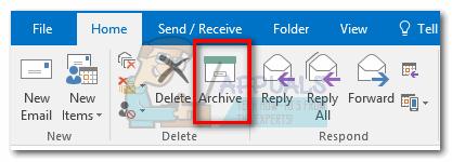 So archivieren Sie E-Mails in Outlook 2007, 2010, 2013, 2016
