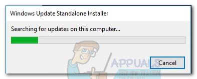 Fix: Windows Update Standalone Installer blieb bei der Suche nach Updates hängen