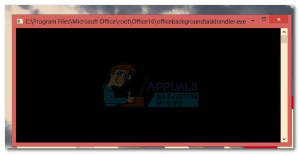 Deaktivieren des Popups für den Office-Hintergrund-Task-Handler unter Windows 10
