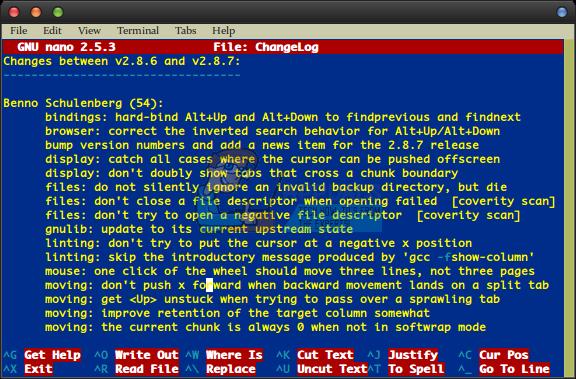 So löschen Sie große Textblöcke im Nano-Editor von GNU