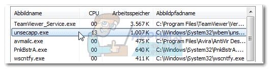 Was ist: Unsecapp.exe 'Asynchrone Rückrufe für WMI-Client-Anwendung'