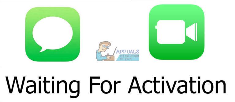So beheben Sie das Warten von iMessage oder Facetime auf die Aktivierung