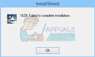 Fix: 1628 Installation konnte nicht abgeschlossen werden