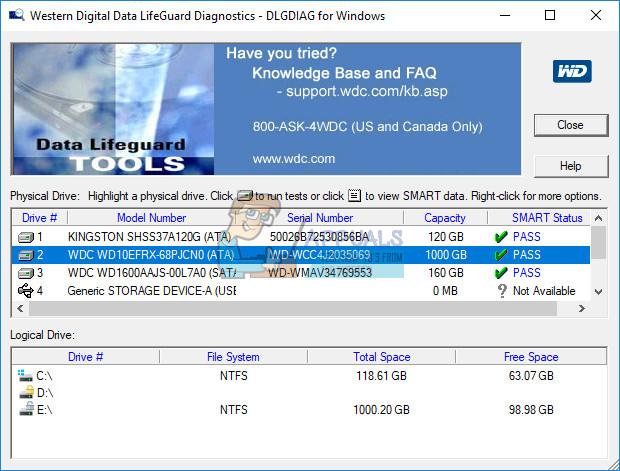 Fix: Kurzzeittest der Festplatte DST fehlgeschlagen