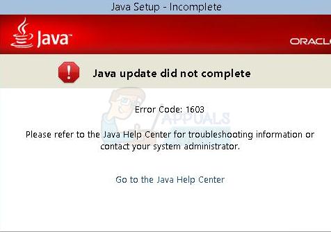 So beheben Sie den Java-Fehlercode 1603
