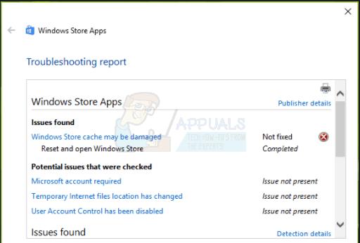 Fix: Windows Store Cache ist möglicherweise beschädigt Windows 10