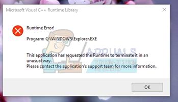 Fix: Microsoft Visual C ++ – Laufzeitbibliotheksfehler in Windows 10