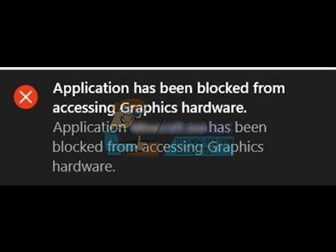 Fix: Die Anwendung konnte nicht auf Grafikhardware zugreifen